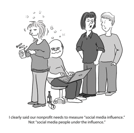 NP social media influence cartoon